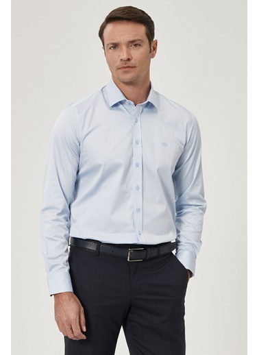 Beymen Business Beymen Business 4B2000000111 Açık Mavi Erkek Gömlek Mavi